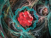 Medical nanoparticle, illustration