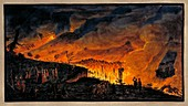 Mount Vesuvius activity, 1771