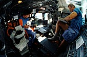 Shuttle Discovery flight deck, STS-31