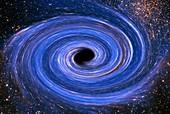 Black hole, illustration