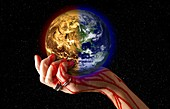 Global warming effects, conceptual image