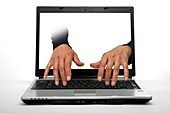 Computer hacking, conceptual image