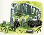 Building Stonehenge, illustration