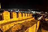 City walls of Thessaloniki at night