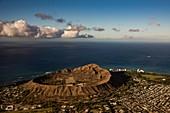 Diamond Head Crater, Hawaii, USA, aerial photograph