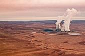 Coal power plant, Page, Arizona, USA, aerial photograph