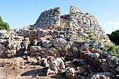 Excavations at Talaiotic prehistoric tower, Menorca