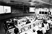 Mission control during Apollo 11 surface EVA, 1969