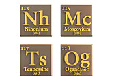 New chemical elements, illustration