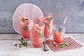 Oriental watermelon granita