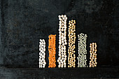 Legumes depicting their protein content
