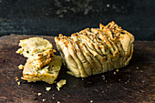 Pull-apart herb bread with alpine cheese