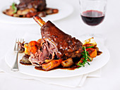 Lamb Shank with Potatoes