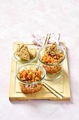 Kimchi mit Möhren, Rettich und Chinakohl