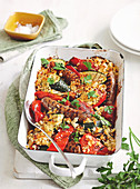 Ratatouille and Sausage bake