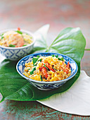 Curried prawn fried rice