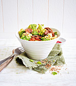 Rindfleisch-Romanesco-Bowl (Low Carb)