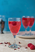 Rose and raspberry schnapps