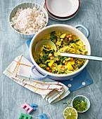 Kartoffel-Spinat-Curry mit Kichererbsen