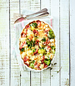 Cauliflower and ham gratin