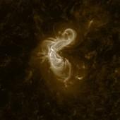 Solar flares, SDO footage