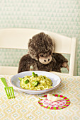 Broccoli risotto for children