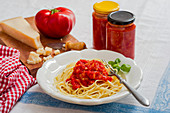 Spaghetti with homemade tomato sugo