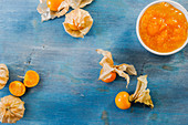 Physalis and physalis jam