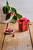 Dirdl jam (cornelian cherry jam)