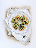 Asparagus frittata with mint