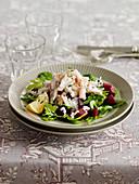Rote-Bete-Salat mit Räucheraal