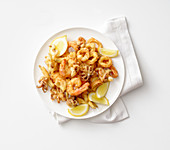 Fritto misto di pesce (mixed fried seafood, Italy)