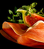 Parma ham and a fresh fig