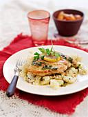 Zitronenhähnchen mit Kartoffeln