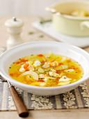 Saffron fish soup