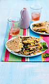 Gluten-free corn, chicken and spinach quesadillas