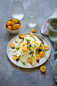 Fennel, kumquat and olive salad