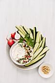 Tahini Yogurt Sauce with vegetables