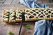 Vegane Linsen-Spinat-Quiche