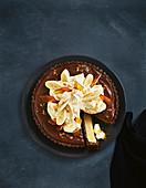 Gefrorene Banoffee-Torte (Aufsicht)