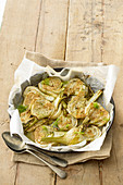 Fried fennel with mustard (Italy)