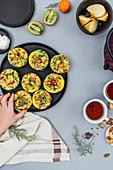 Vegetarische Omelett-Muffins zum Frühstück oder Brunch