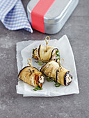 Aubergine rolls with ricotta (low carb)