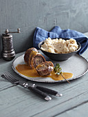 Beef roulade with mashed celeriac and potatoes