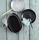 Various pans