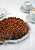Brownie nougat cake
