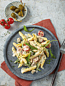 Pasta salad with capers and tuna