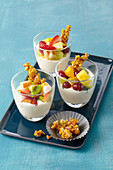 Fruit salad with orange quark