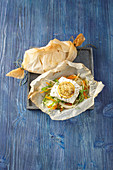 Salmon fillets cooked in parchment paper