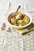 Avocado and basil gnocchi